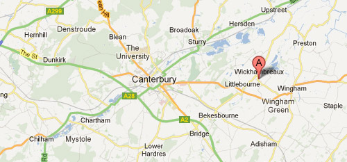 Ickham in relation to Canterbury